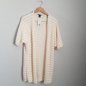 Forever21, cream, knit cardigan